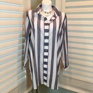 Swim by Cacique Striped Shirt Coverup, 18/20